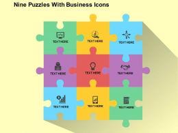 20790183 Style Puzzles Matrix 9 Piece Powerpoint Presentation Diagram Infographic Slide