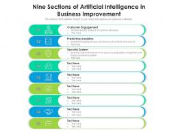 Nine Sections Of Artificial Intelligence In Business Improvement