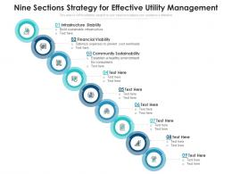 Nine Sections Strategy For Effective Utility Management