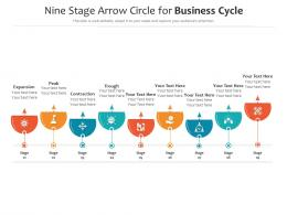 Nine Stage Arrow Circle For Business Cycle