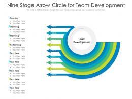 Nine Stage Arrow Circle For Team Development