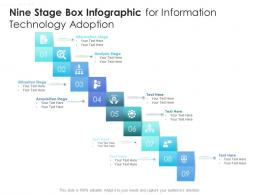 Nine Stage Box Infographic For Information Technology Adoption