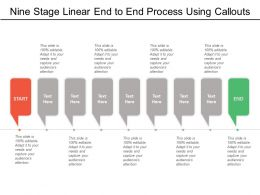 Nine Stage Linear End To End Process Using Callouts