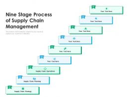 Nine Stage Process Of Supply Chain Management