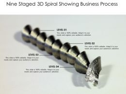Nine Staged 3d Spiral Showing Business Process
