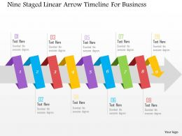 nine_staged_linear_arrow_timeline_for_business_flat_powerpoint_design_Slide01