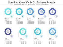 Nine Step Arrow Circle For Business Analysis