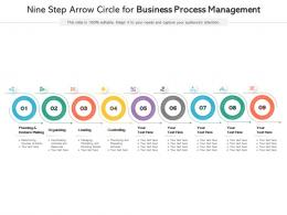 Nine Step Arrow Circle For Business Process Management