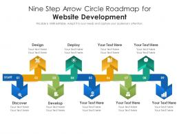 Nine Step Arrow Circle Roadmap For Website Development