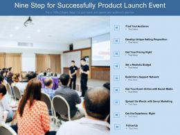 Nine Step For Successfully Product Launch Event