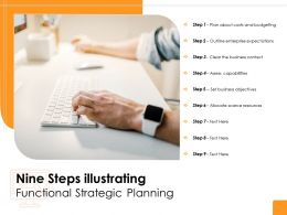 Nine Steps Illustrating Functional Strategic Planning