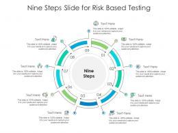 Nine Steps Slide For Risk Based Testing Infographic Template