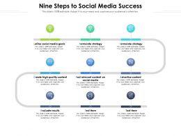 Nine Steps To Social Media Success