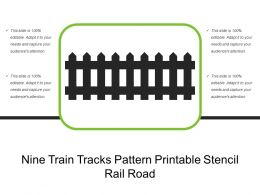 Nine Train Tracks Pattern Printable Stencil Rail Road