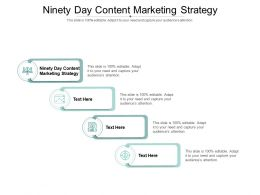 Ninety Day Content Marketing Strategy Ppt Powerpoint Presentation Ideas Inspiration Cpb