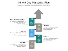 Ninety Day Marketing Plan Ppt Powerpoint Presentation Styles Information Cpb