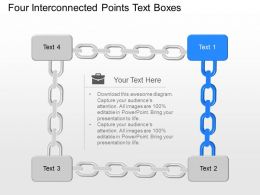 Nj Four Interconnected Points Text Boxes Powerpoint Template