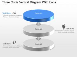 Nj Three Circle Vertical Diagram With Icons Powerpoint Template Slide