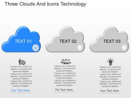 nk Three Clouds And Icons Technology Powerpoint Template