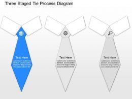 nk Three Staged Tie Process Diagram Powerpoint Temptate