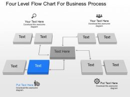 Nl Four Level Flow Chart For Business Process Powerpoint Template