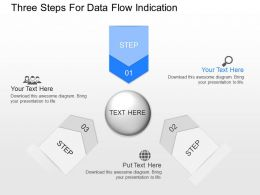 nl Three Steps For Data Flow Indication Powerpoint Temptate