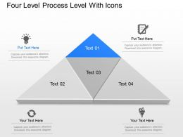 Nm Four Level Process Level With Icons Powerpoint Template