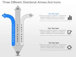 nm Three Different Directional Arrows And Icons Powerpoint Template