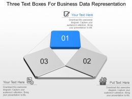 nm Three Text Boxes For Business Data Representation Powerpoint Temptate