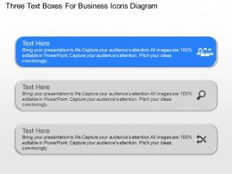 nn Three Text Boxes For Business Icons Diagram Powerpoint Temptate