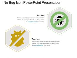 No Bug Icon Powerpoint Presentation