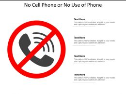 No Cell Phone Or No Use Of Phone