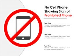 No Cell Phone Showing Sign Of Prohibited Phone