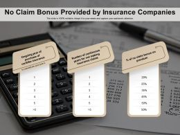 No Claim Bonus Provided By Insurance Companies
