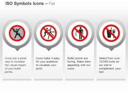 No Climbing Fence No Climbing Electrical Tower No Littering No Food Or Drink Ppt Icons Graphics