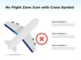No Flight Zone Icon With Cross Symbol