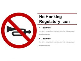 No Honking Regulatory Icon Powerpoint Templates