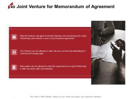 No Joint Venture For Memorandum Of Agreement Plan Ppt Powerpoint Presentation File Ideas