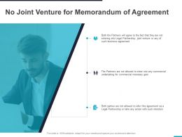 No Joint Venture For Memorandum Of Agreement Ppt Powerpoint Presentation Styles