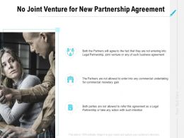 No Joint Venture For New Partnership Agreement Ppt Powerpoint Presentation File