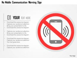 No Mobile Communication Warning Sign Flat Powerpoint Design
