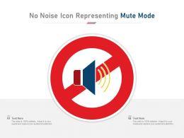 No Noise Icon Representing Mute Mode