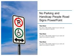 No Parking And Handicap People Road Signs Powerpoint