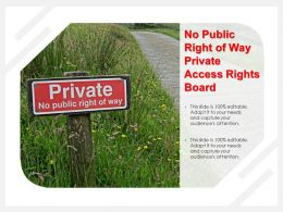 No Public Right Of Way Private Access Rights Board
