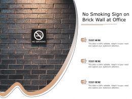 No Smoking Sign On Brick Wall At Office