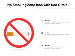 No Smoking Zone Icon With Red Circle