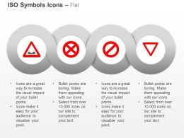 No Stopping Dangerous Dip Give Way No Parking ISO Icons For Powerpoint