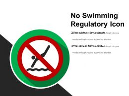 No Swimming Regulatory Icon Powerpoint Graphics