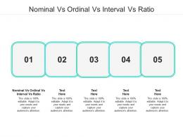 Nominal Vs Ordinal Vs Interval Vs Ratio Ppt Powerpoint Presentation Model Picture Cpb
