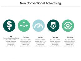 Non Conventional Advertising Ppt Powerpoint Presentation Inspiration Layouts Cpb
